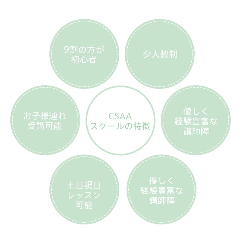 CSAAスクールの特徴